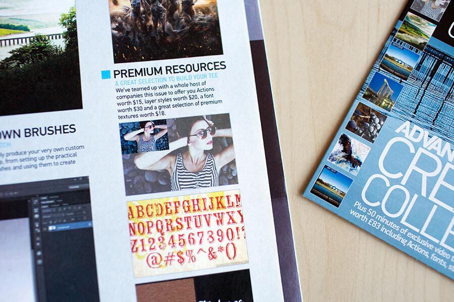 featured on advanced photoshop magazine 4