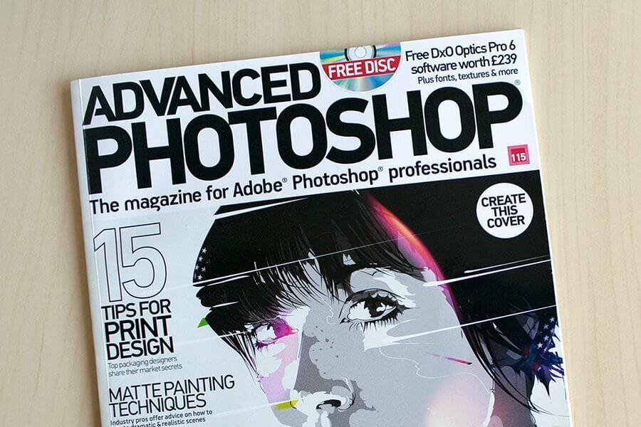 featured on advanced photoshop magazine
