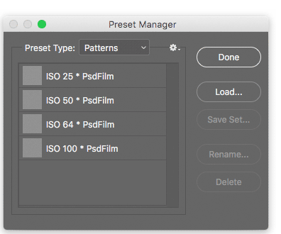 how to install photoshop patterns 4